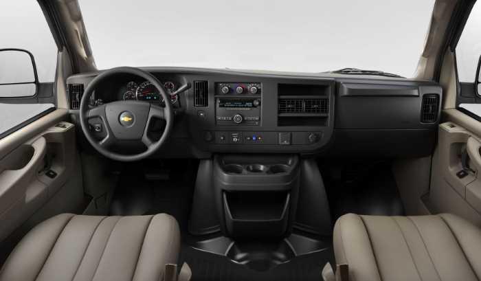 New 2022 Chevrolet Express Interior